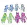 Перчатки садовые цветные, нейлон, латекс,